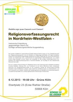 Religionsverfassung NRW 6.12., Köln
