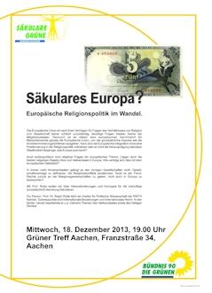 Säkulares Europa? 18.12., Aachen